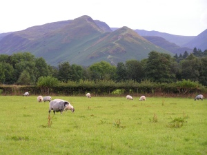 Lookinf from near Keswick to CatsBells